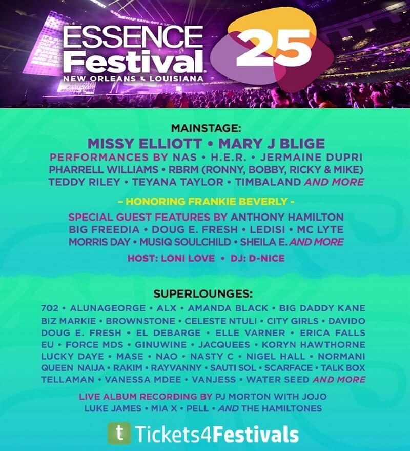 Essence Music Festival Lineup 2019