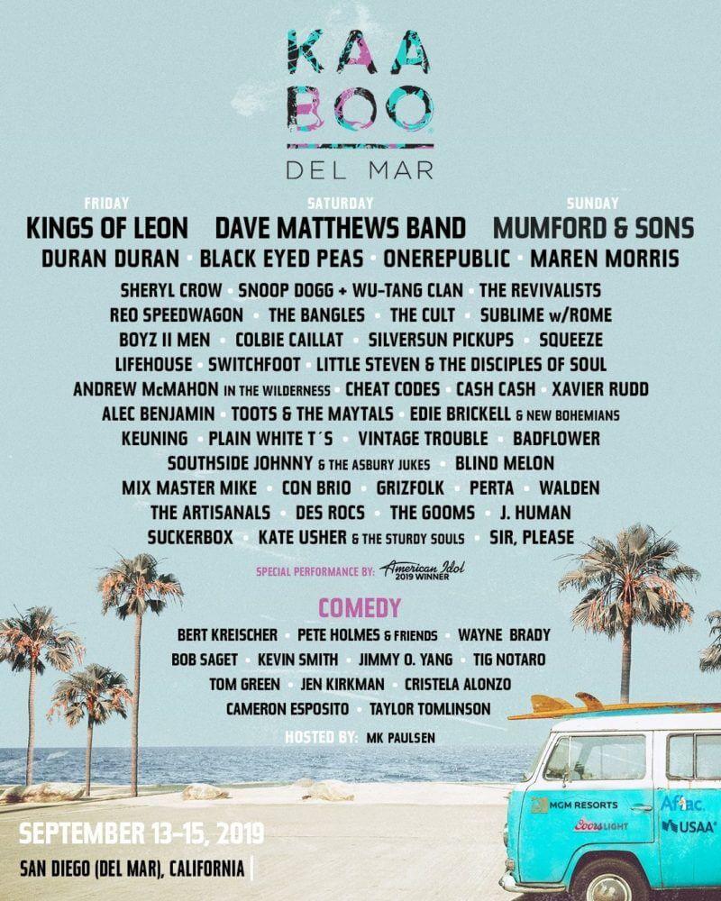 KaaBoo Festival Del Mar 2019 Lineup