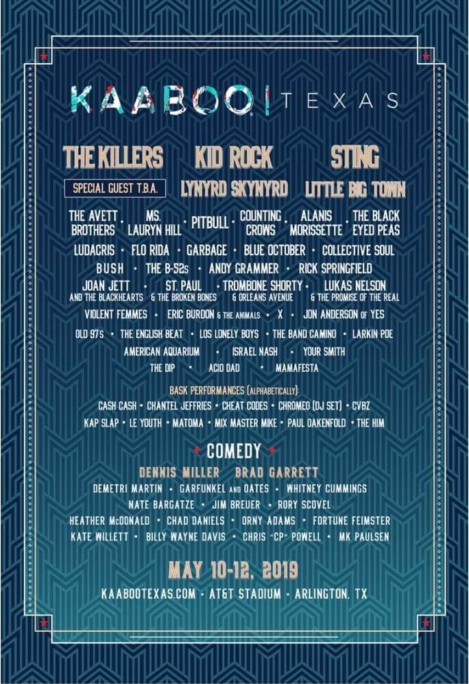 KaaBoo Festival (Texas) 2020 Lineup
