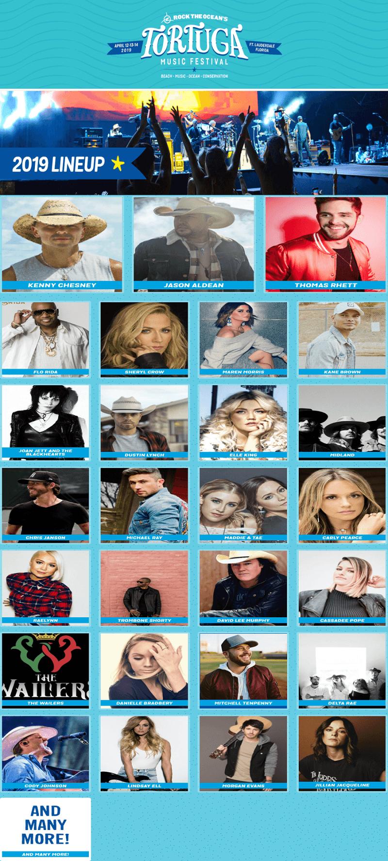 Tortuga Music Festival 2019 Lineup