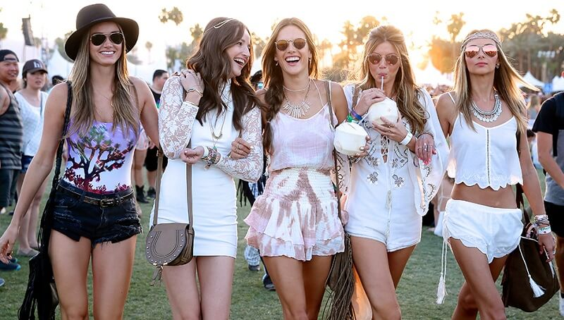 coachella dressing models