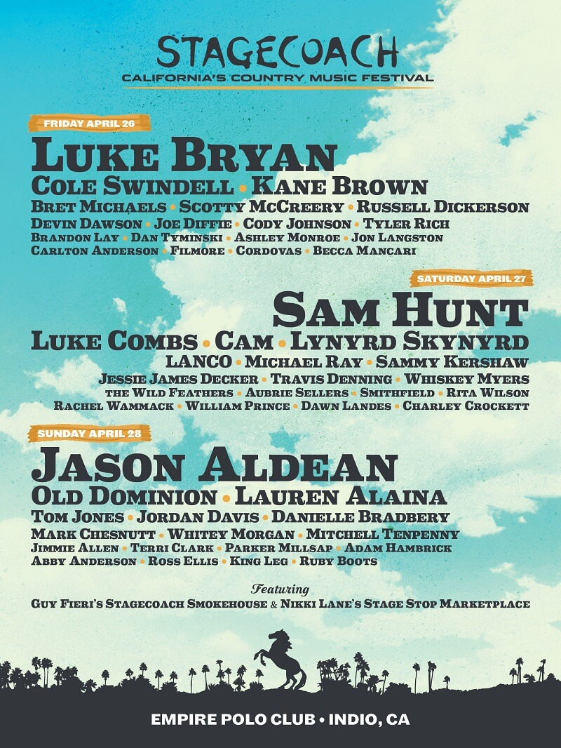 Stagecoach Festival 2019 Lineup