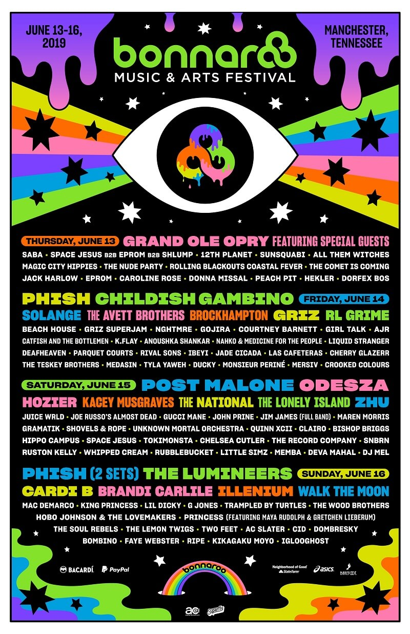Bonnaroo Music and Arts Festival 2019 Lineup