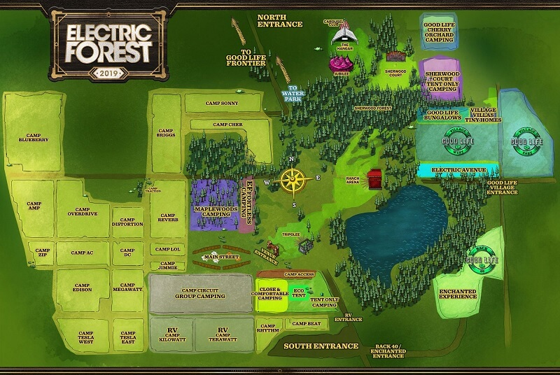 Electric Forest Festival 2020 Map