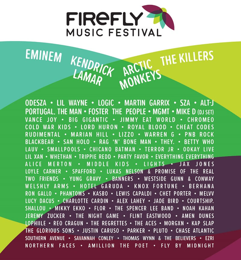 Firefly Festival 2018 LineUp