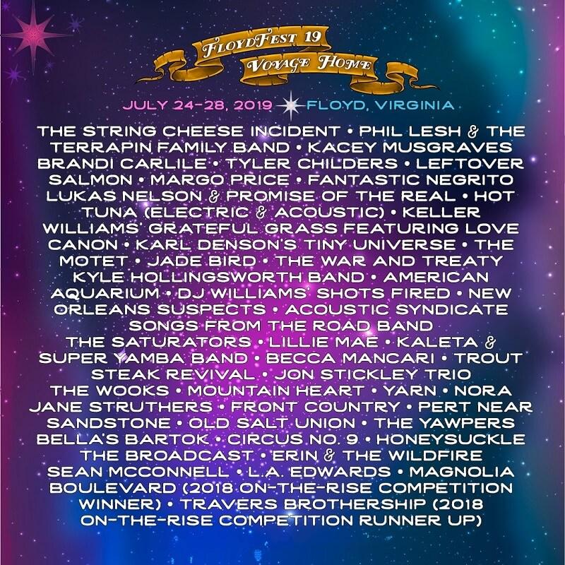 Floydfest 2020 Lineup
