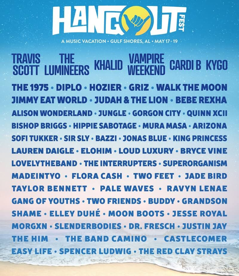 Hangout Music Festival 2019 Lineup