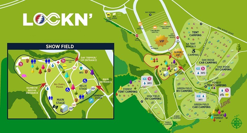 Lockn' Festival Map