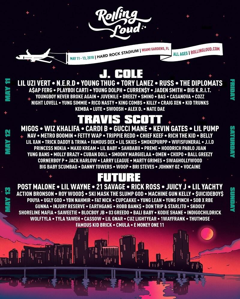 Rolling Loud Festival 2018 LineUp