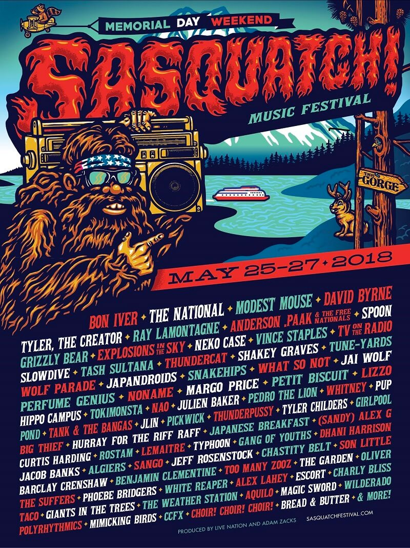 Sasquatch! Festival 2018 LineUp