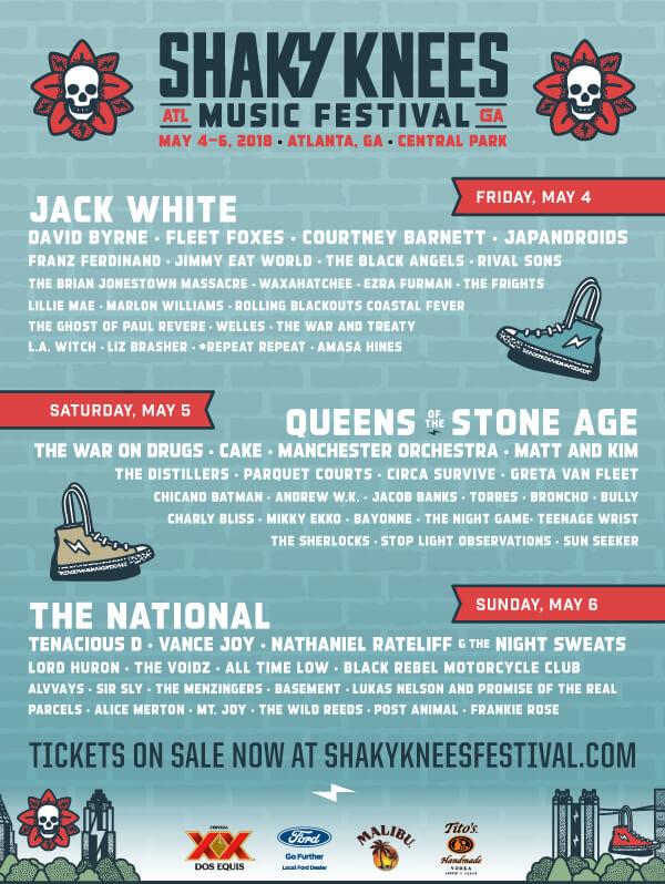 Shaky Knees Music Festival 2018 LineUp