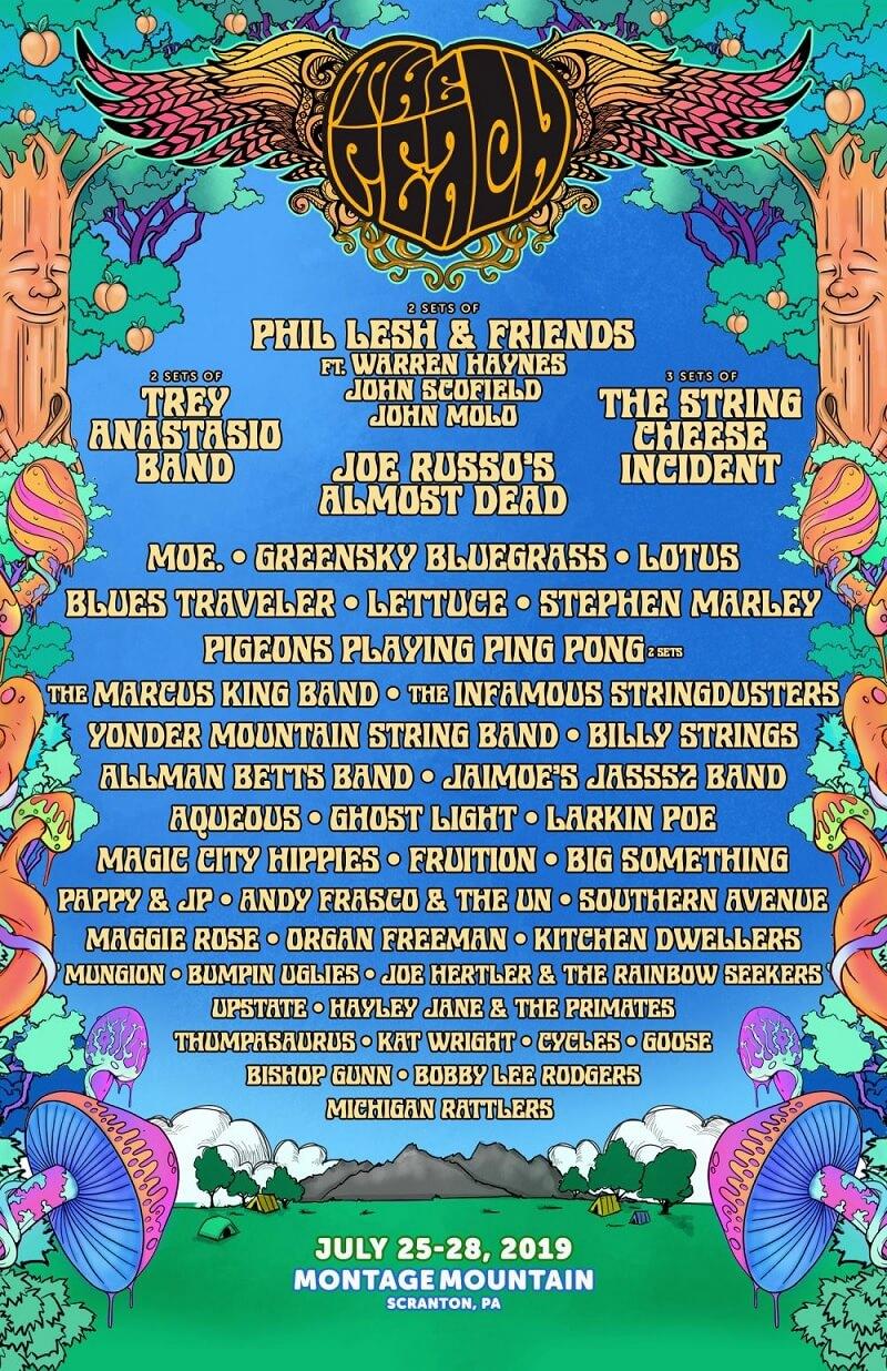 The Peach Music Festival 2019 Lineup
