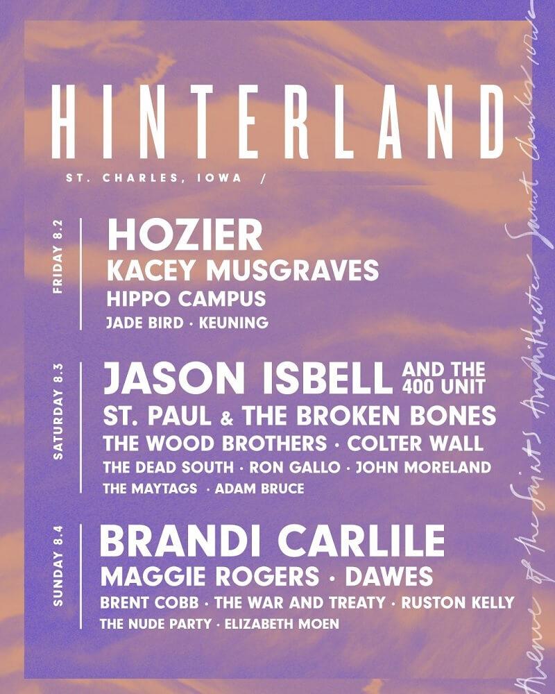 Hinterland Music Festival 2020 Lineup