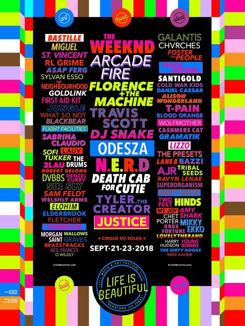 Life is Beautiful Festival lineup