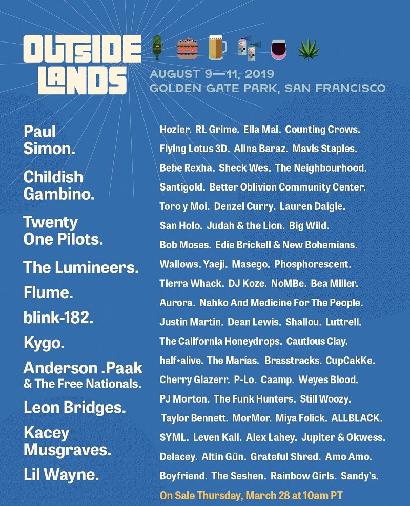 Outside Lands Music & Arts Festival 2020 Lineup