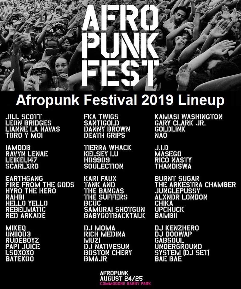 Afropunk Festival 2019 Lineup