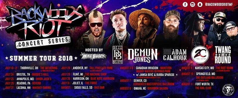 Backwoods Riot Music Festival lineup