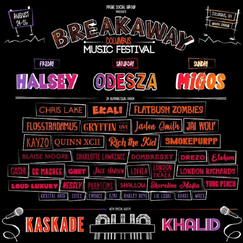 Breakaway Music Festival 2018 Lineup