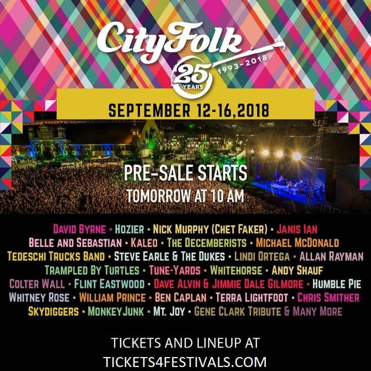 City Folk Music Festival Lineup