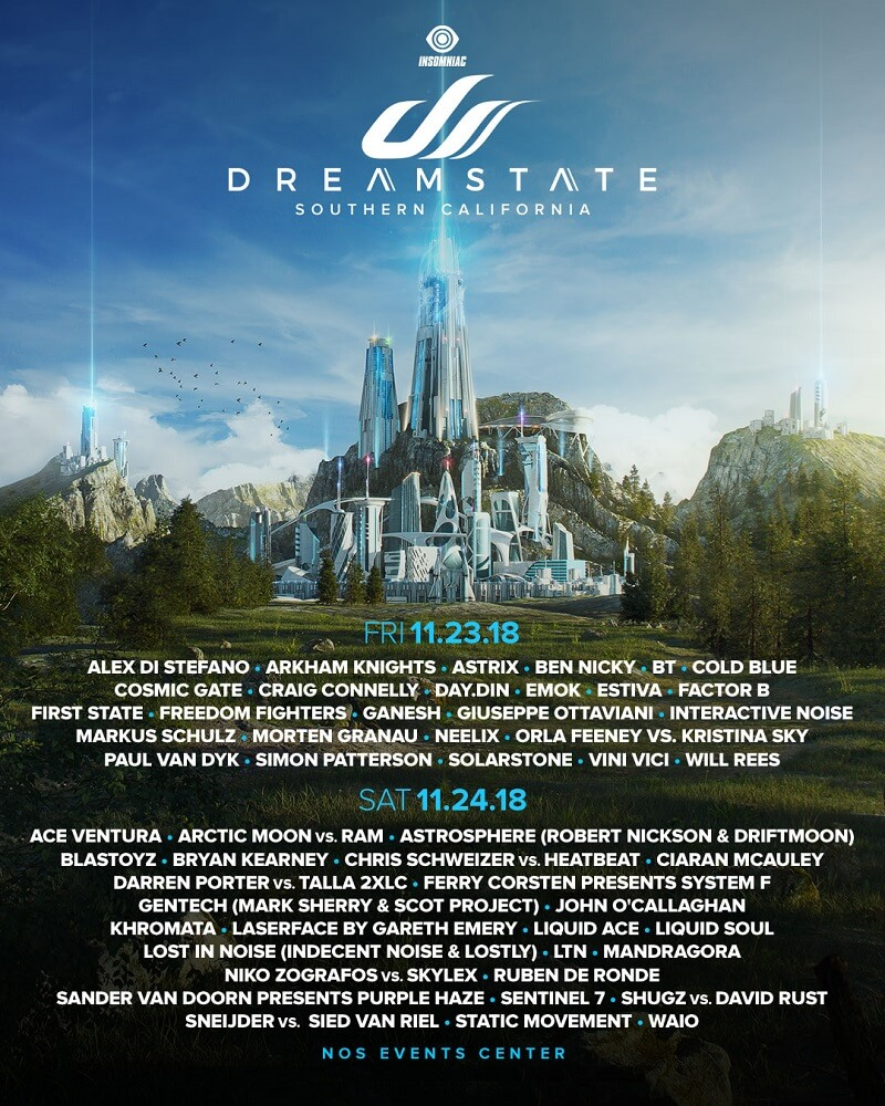 Dreamstate Festival Southern California 2018 Lineup