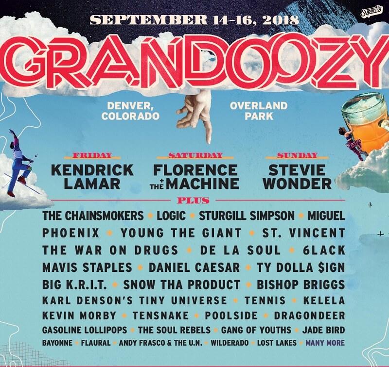 Grandoozy Music Festival lineup