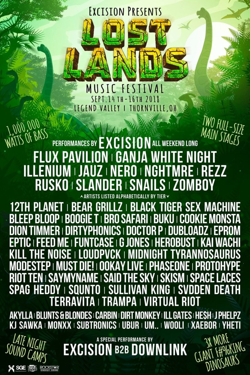 Lost Lands Music Festival 2018 Lineup