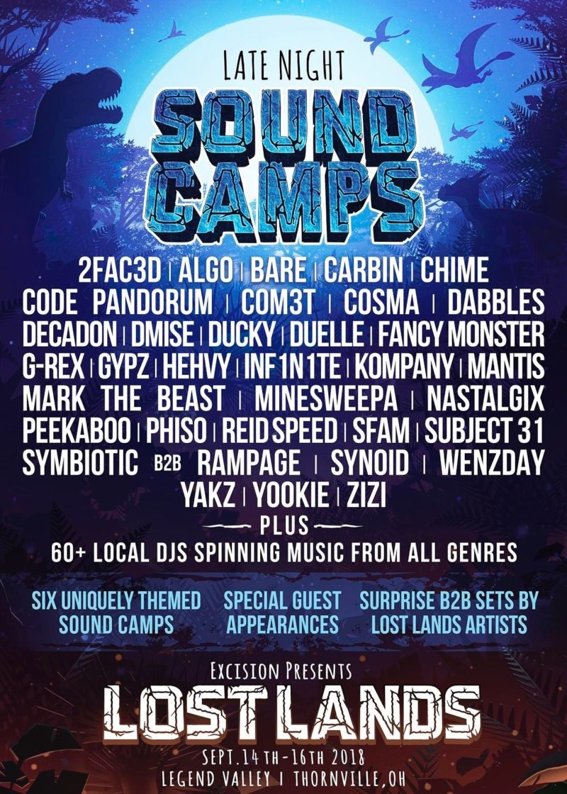 Lost Lands Music Festival Late Night Sound Camp Lineup