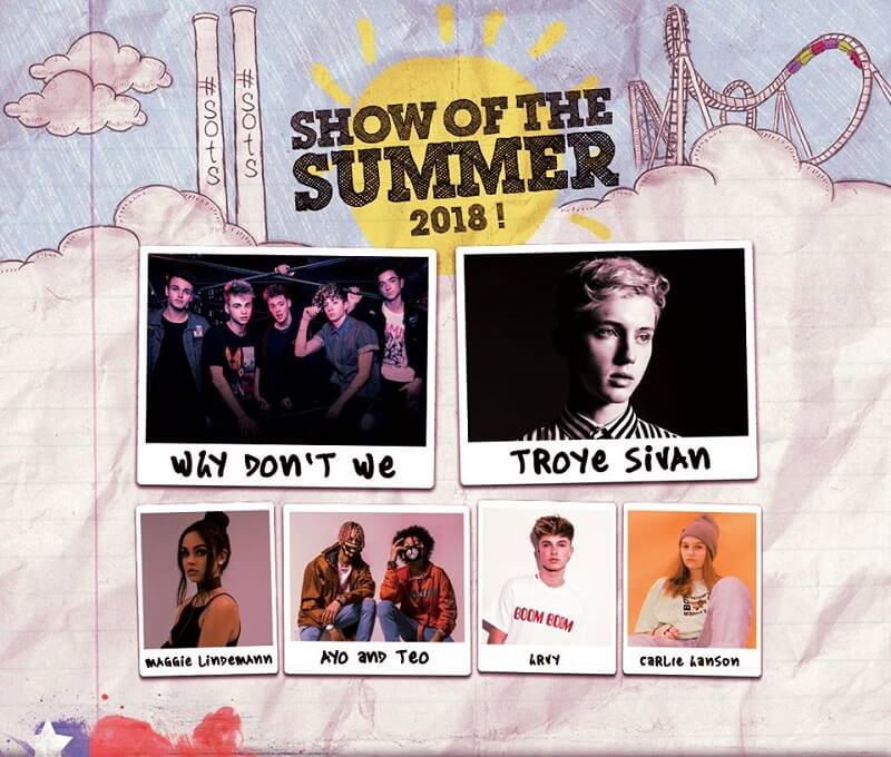 Show of the Summer 2018 lineup