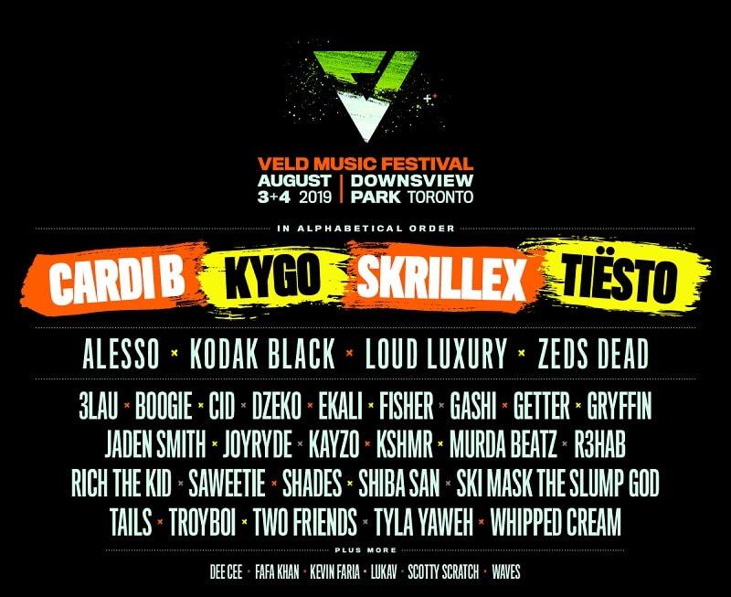 Veld Music Festival 2019 Lineup