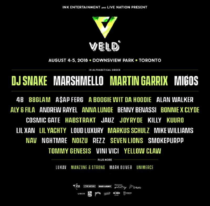 Veld Music Festival lineup 2018