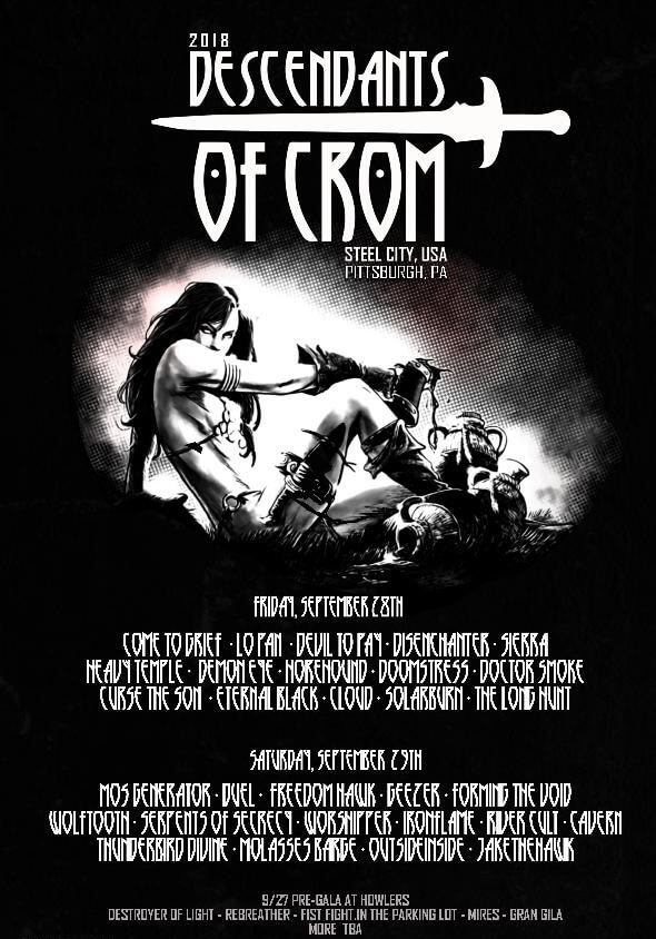 Descendants of Crom 2018 Lineup
