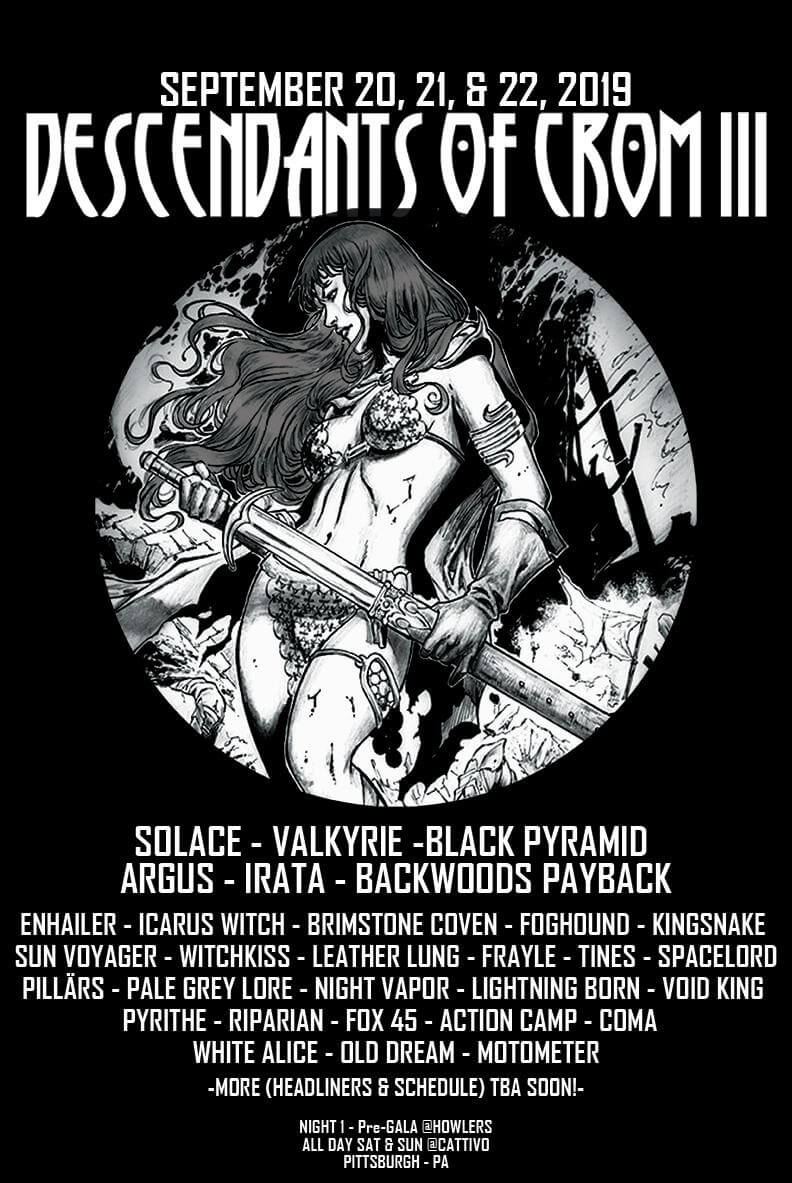 Descendants of Crom 2019 Lineup