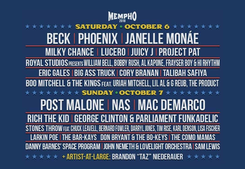 Mempho Festival 2018 Lineup