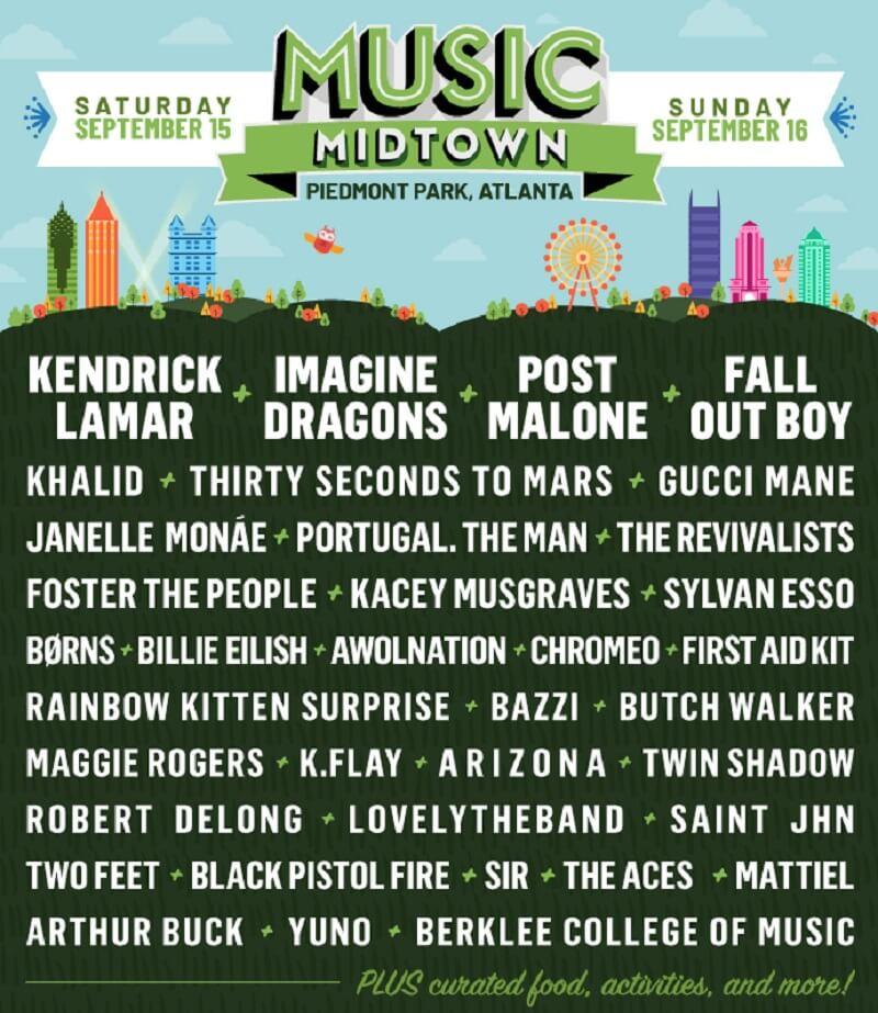 Music Midtown Festival Lineup