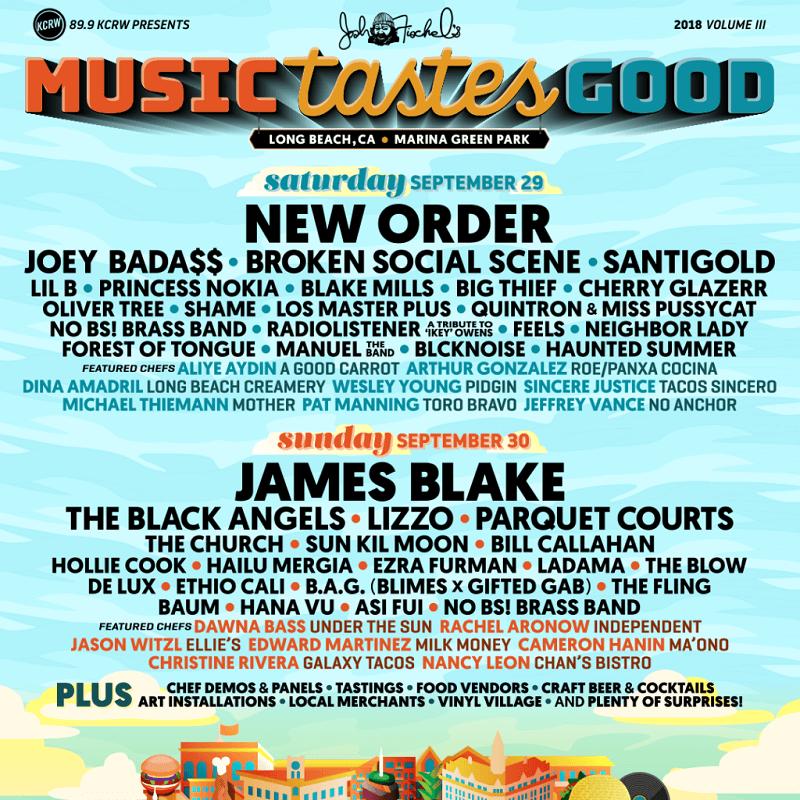 Music Tastes Good Festival 2018 Lineup