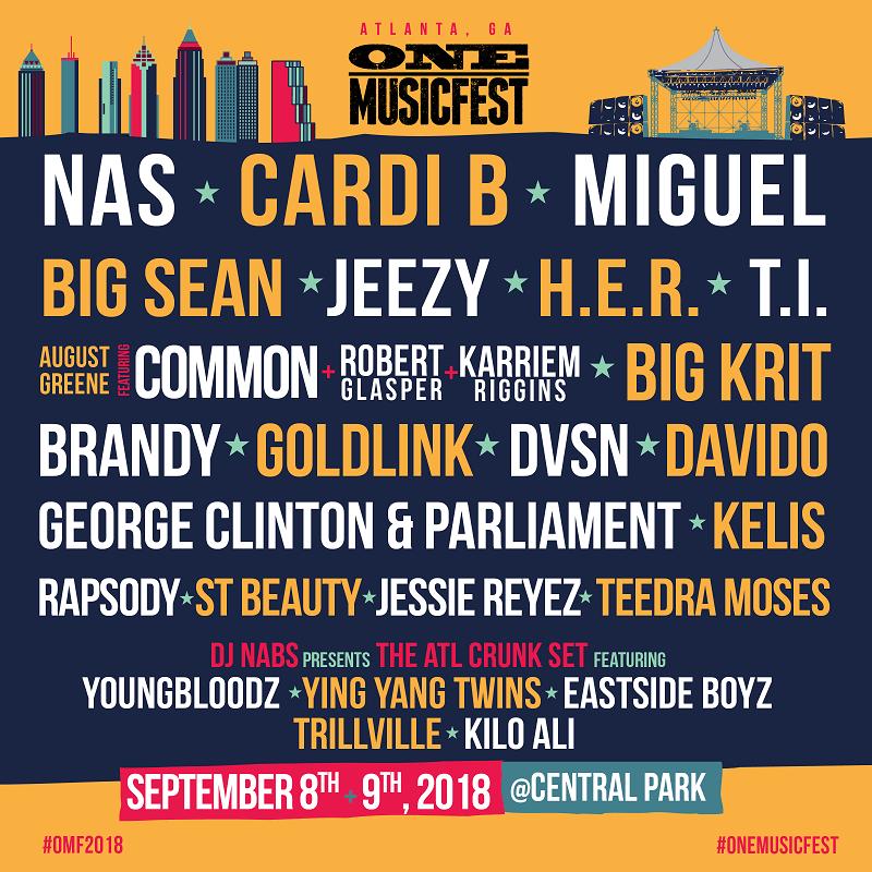 ONE Musicfest 2018 Lineup