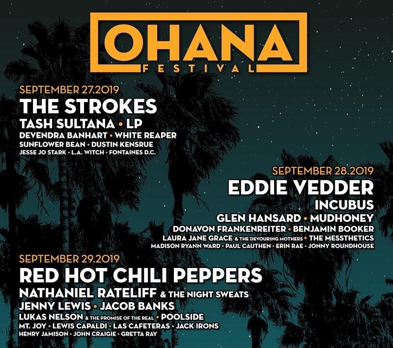 Ohana Music Festival 2019 Lineup