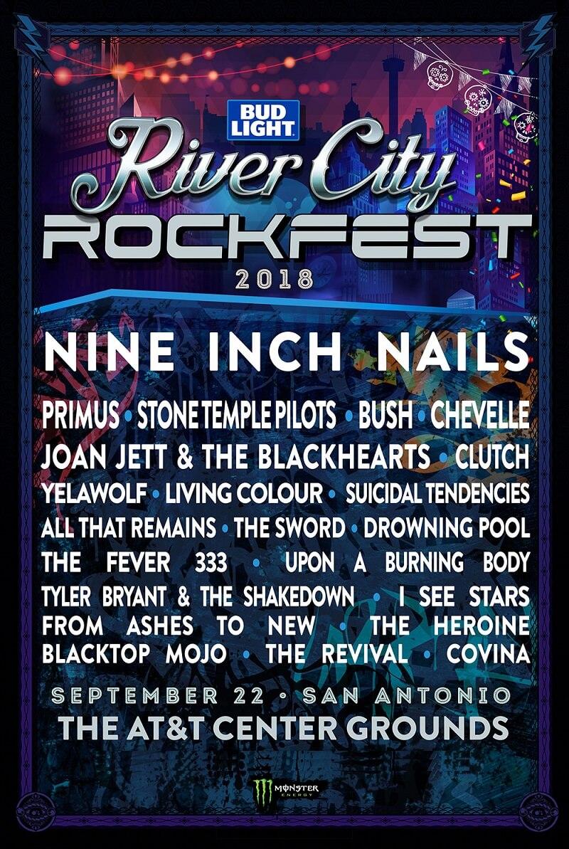 River City Rockfest Lineup 2018