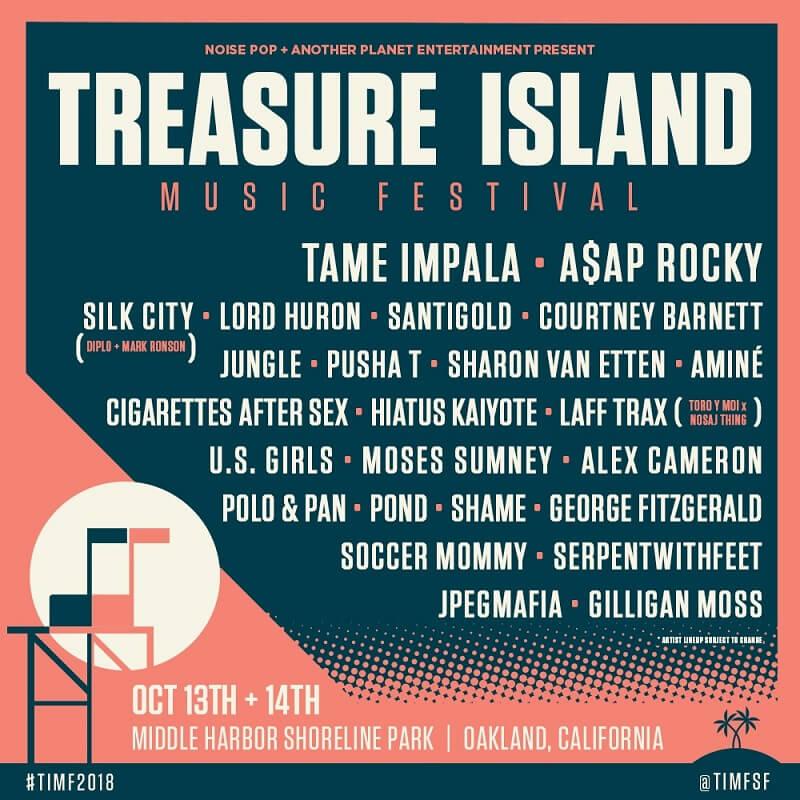 Treasure Island Music Festival 2018 Lineup