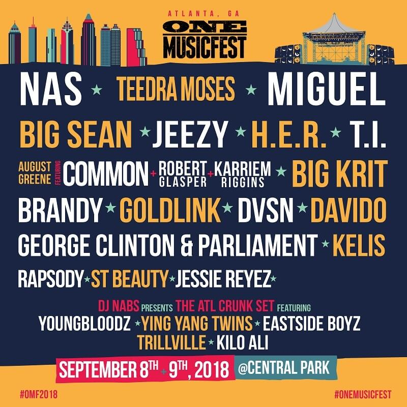 one musicfest new lineup