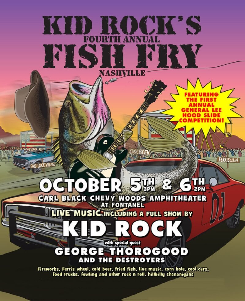 Kid Rock Fish Fry Lineup