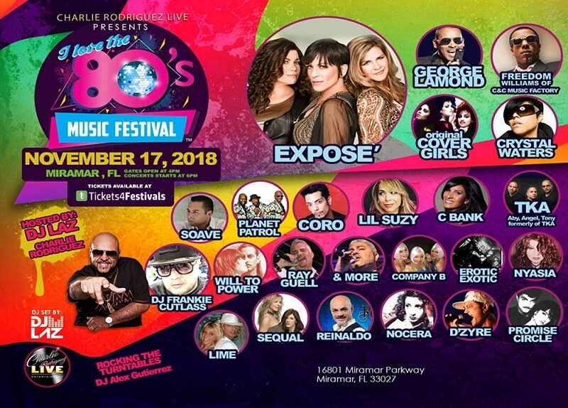 I Love The 80's Music Fest Lineup
