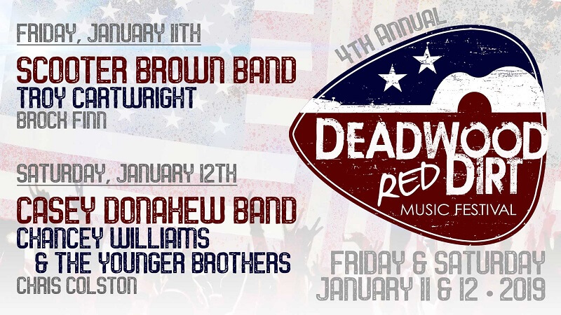Deadwood Red Dirt Festival Lineup