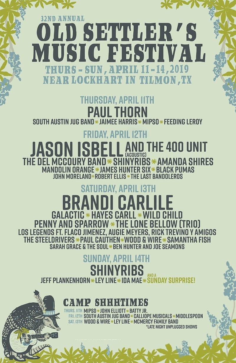 Old Settler's Music Festival Lineup 2019