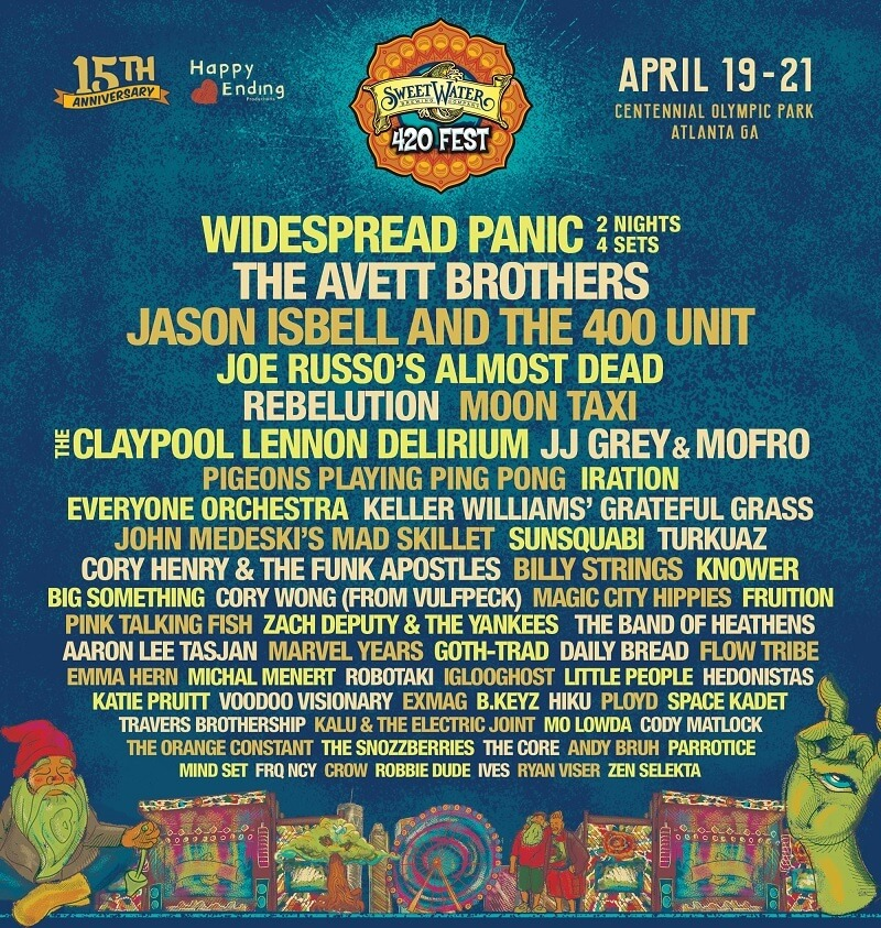Sweetwater 420 Fest Lineup 2019