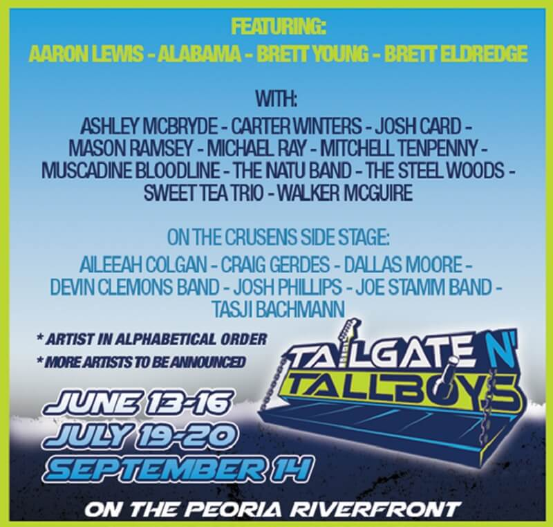 Tailgate N Tallboys Music Festival 2019 Lineup