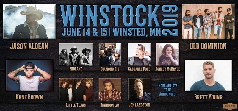 Winstock Country Music Festival 2019 Lineup