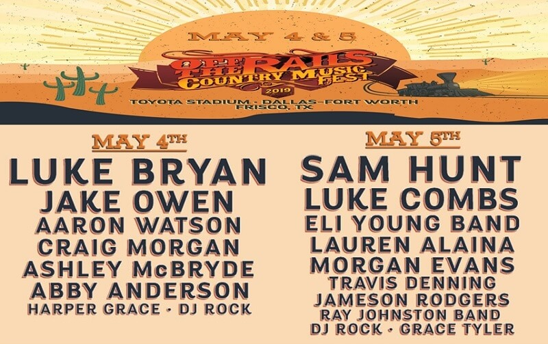 Off The Rails Country Music Festival 2019 Lineup