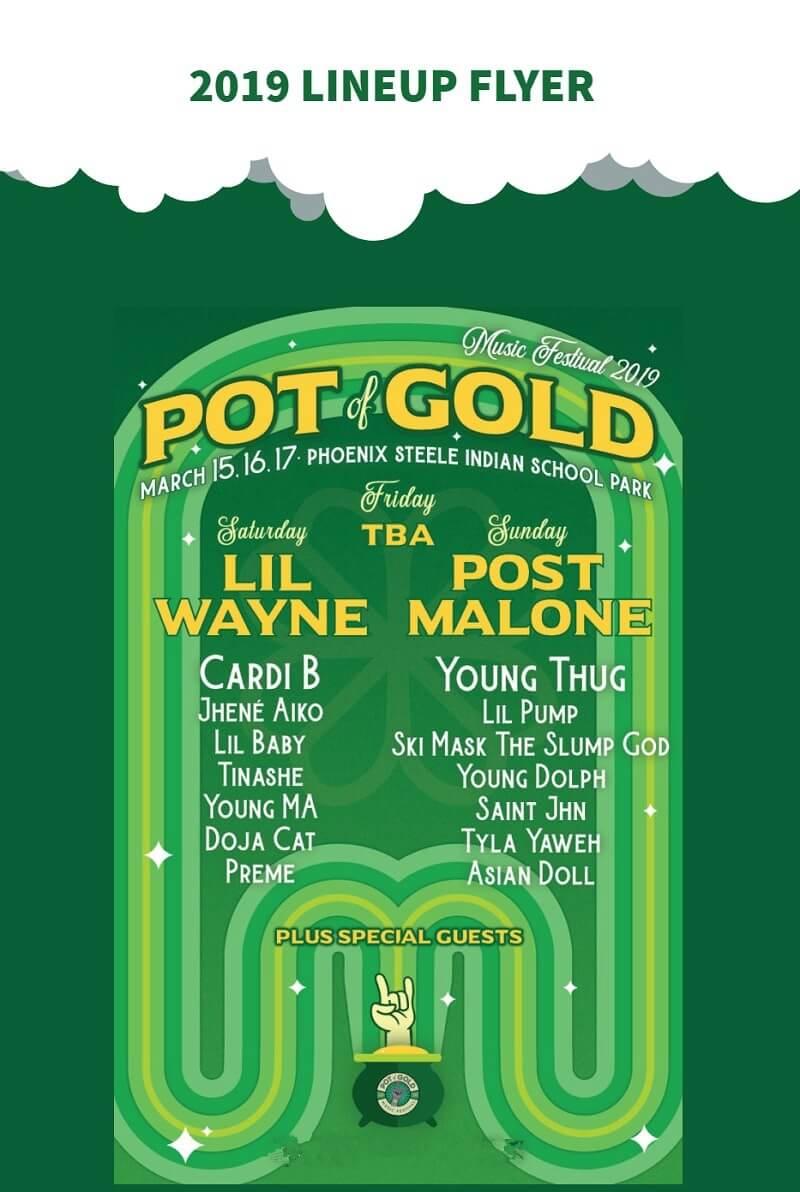 Pot of Gold Music Festival Lineup 2019
