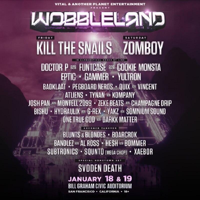 Wobbleland 2019 Lineup